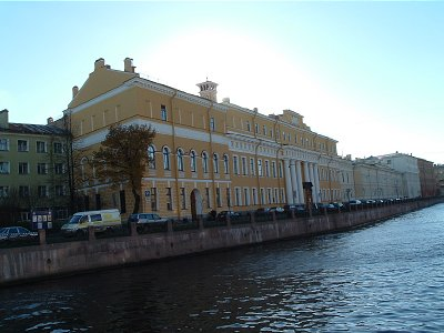 The Yussopov's palace next to the Moika canal, St. Petersburg, the site of Rasputin's murder.