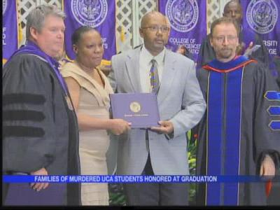 Families of murdered students honored at UCA graduation_-2635321404757293831