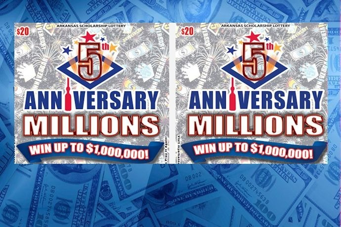 5th Anniversary Millions scratchoff game_6698404866131642619