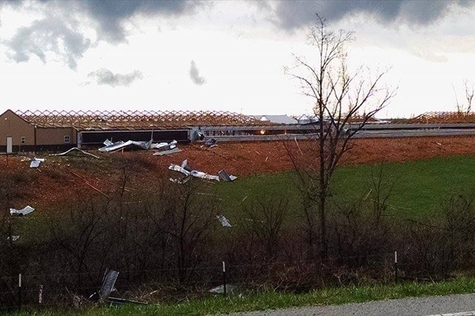 Storm damage northwest of Clifty on March 25._-2556144532806284761