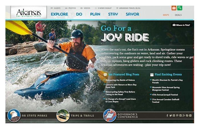 Arkansas Department of Parks & Tourism new website look at Arkansas.com_-4621230840560204578