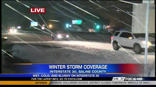 Snow on I-30 (3_4_15)_-6396202038733815234
