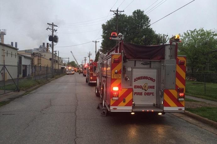Jonesboro Industrial Fire_-4877368322315169835