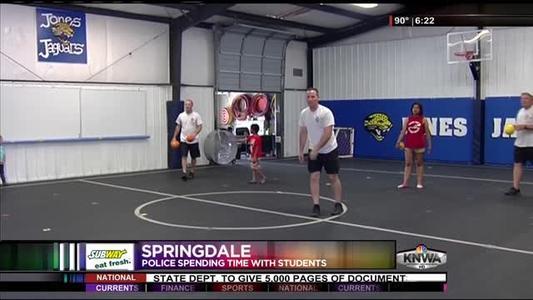 Springdale PD Bonds With Kids_-6331816181987785194