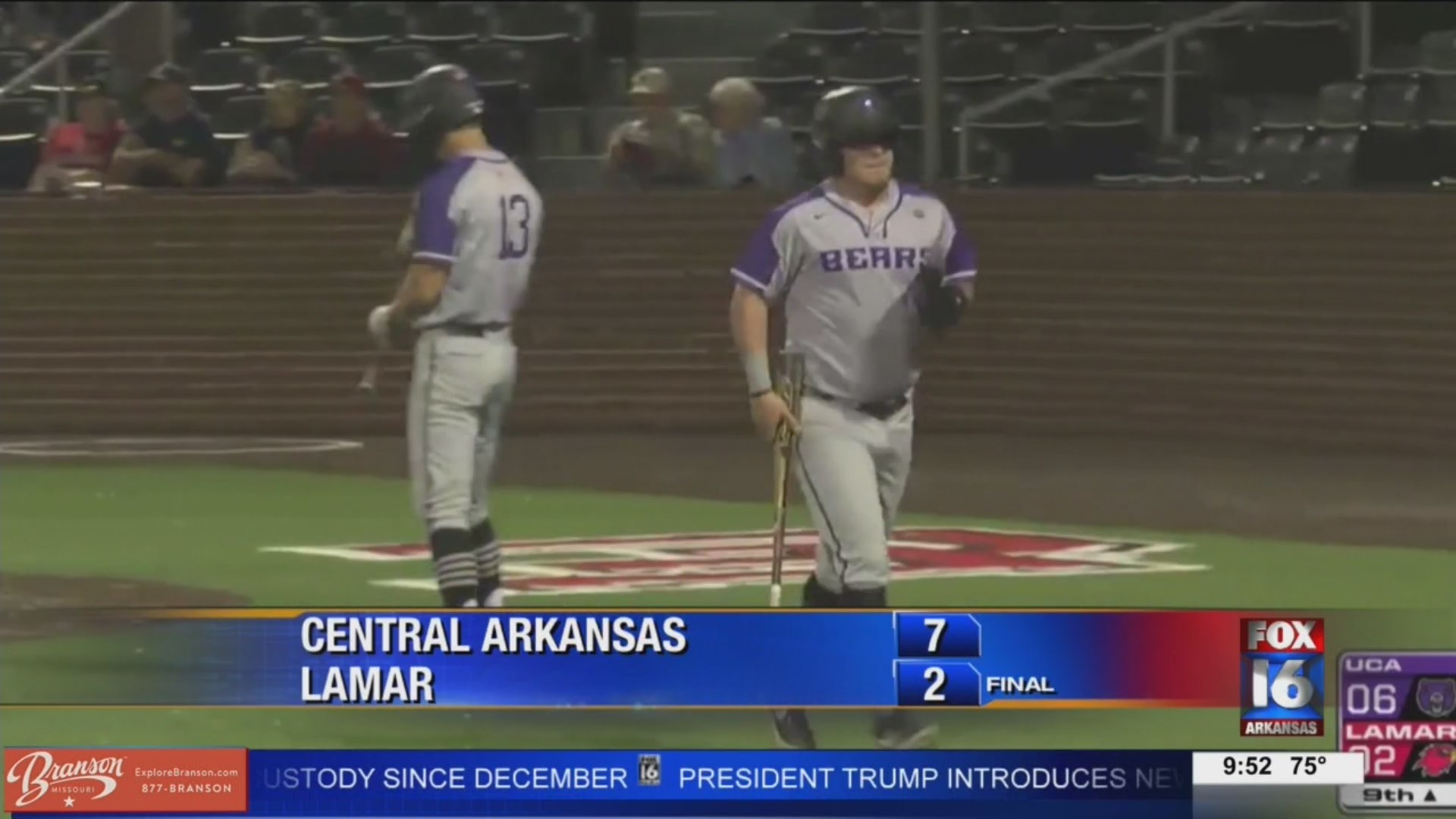 UCA Takes Game 1 from Lamar 7-2