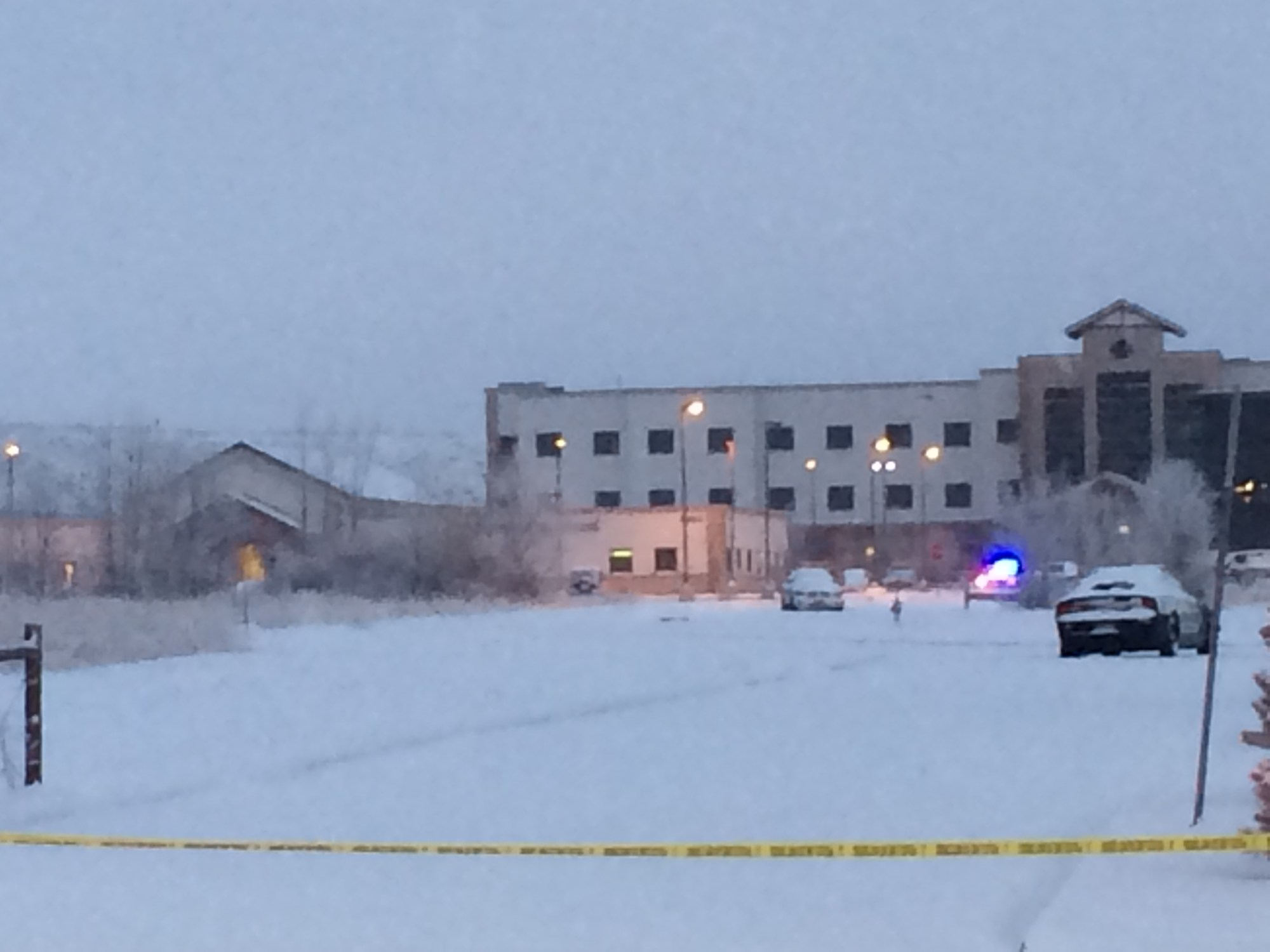 At 6_50 a.m. Saturday, police remained on the scene of a shooting that killed three people at Planned Parenthood Friday. _ Shane Crigger - FOX2_125246