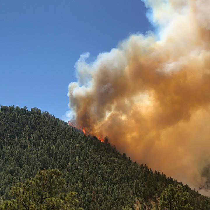 The 416 Fire burns near the Hermosa Campground in the San Juan National Forest Sunday. 416 Fire Information Center