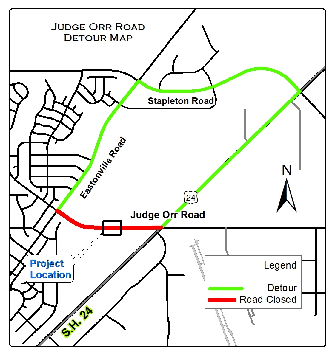A portion of Judge Orr Road will be closed for construction for about two months starting Monday. El Paso County