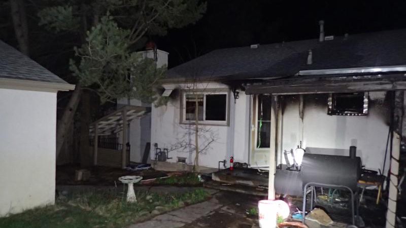 Two pets were killed in a house fire in central Colorado Springs Sunday. Photo courtesy Colorado Springs Fire Department