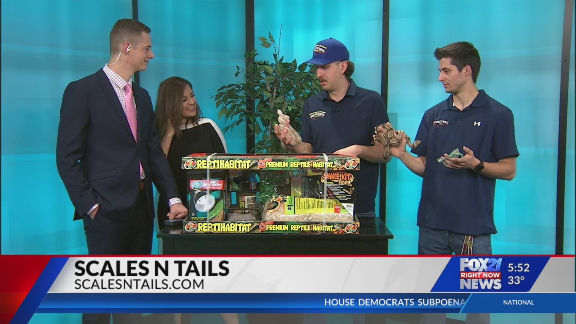 Scales 'N Tails on FOX21 Morning News Part 1