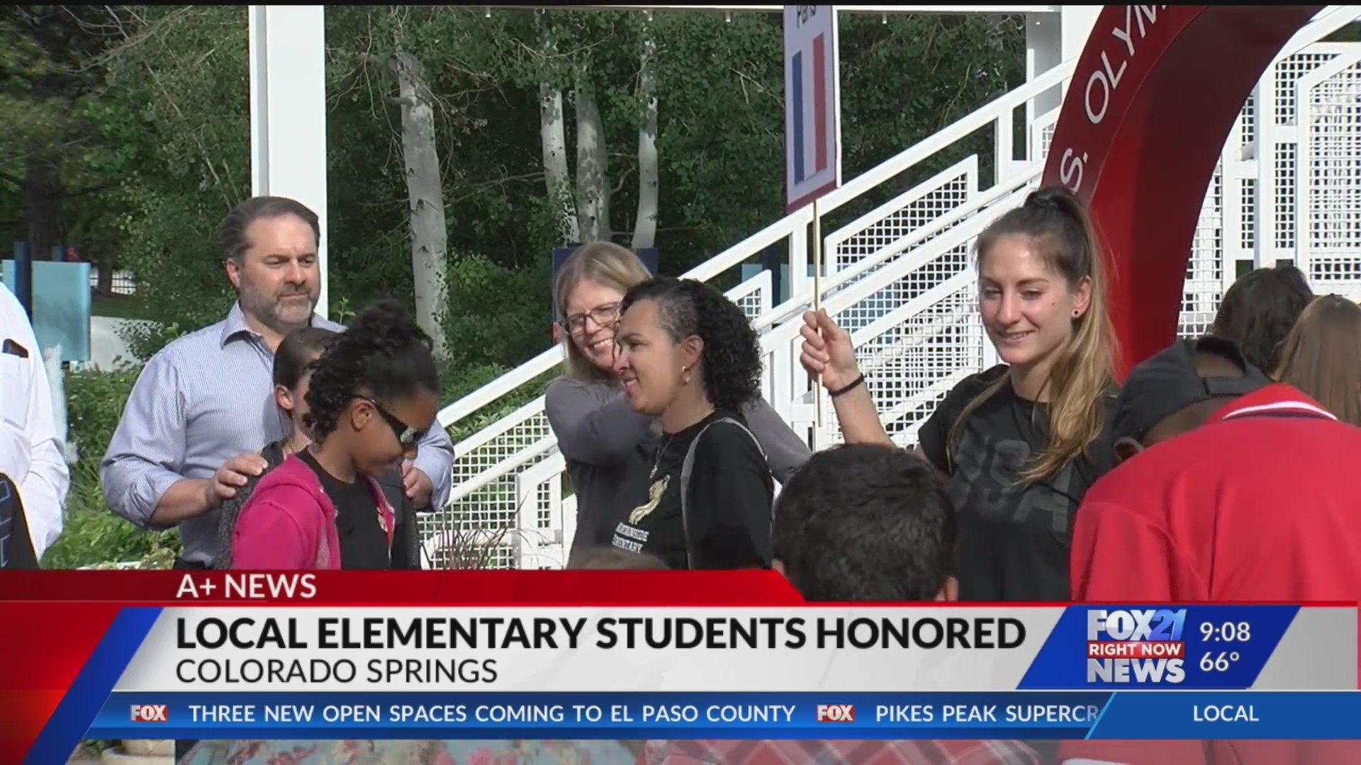 Colorado Springs elementary schoolers honored at Olympic Training Center