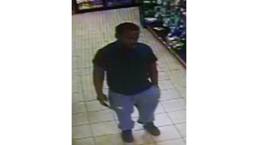 Surveillance image provided by the Fountain Police Department shows the man accused of robbing a Fountain convenience store Sunday afternoon.