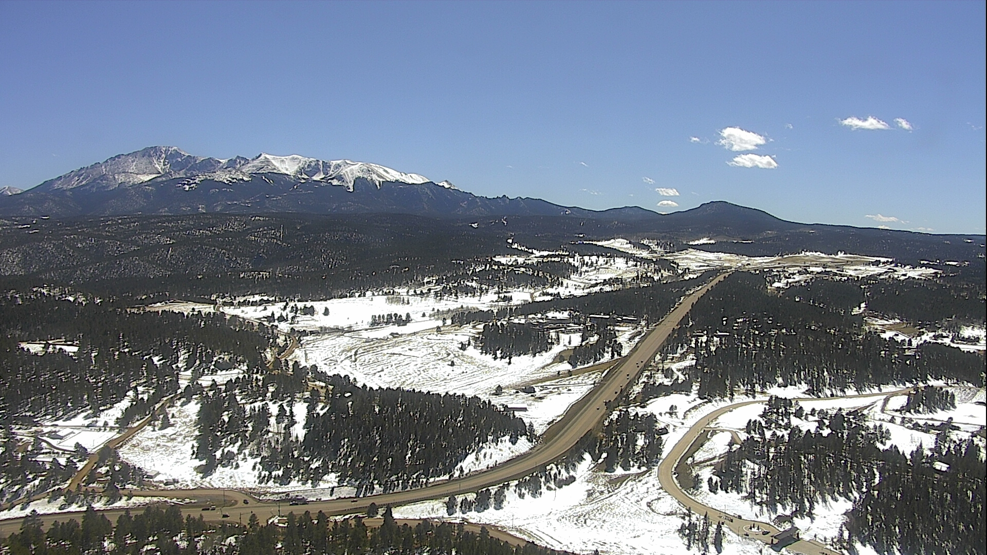 The view from Gold Hill near Woodland Park around 2 p.m. Tuseday.