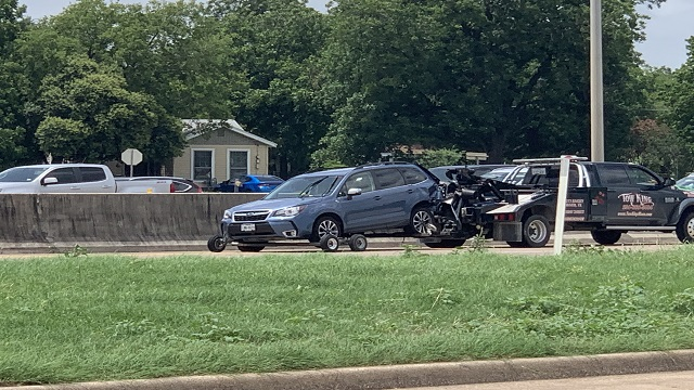 Two adults, one infant hospitalized in I-35 accident   KWKT