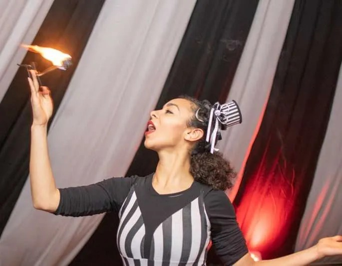 Firebreathers at a corporate event