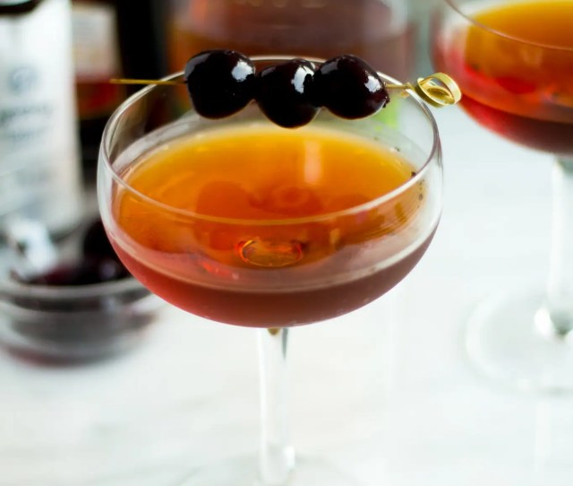 This Classic Manhattan Cocktail Is Classic For A Reason Rye Whiskey Sweet Vermouth Plus
