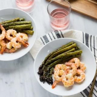Roasted Shrimp and Asparagus
