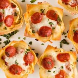 Mini Pizza Dip Cups