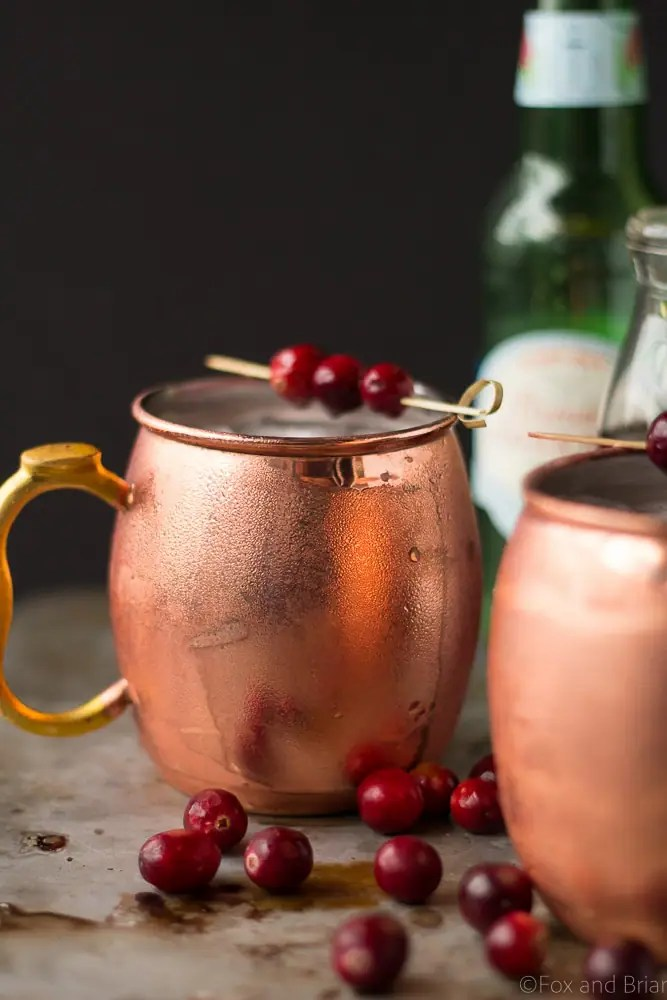 This Cranberry Irish Mule is a winter twist on the Classic Moscow Mule! Irish whiskey, cranberry juice and ginger beer make this an ideal holiday cocktail.