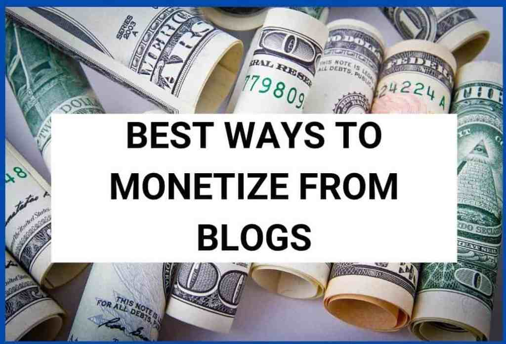 Some best sources of income to make money from blogging