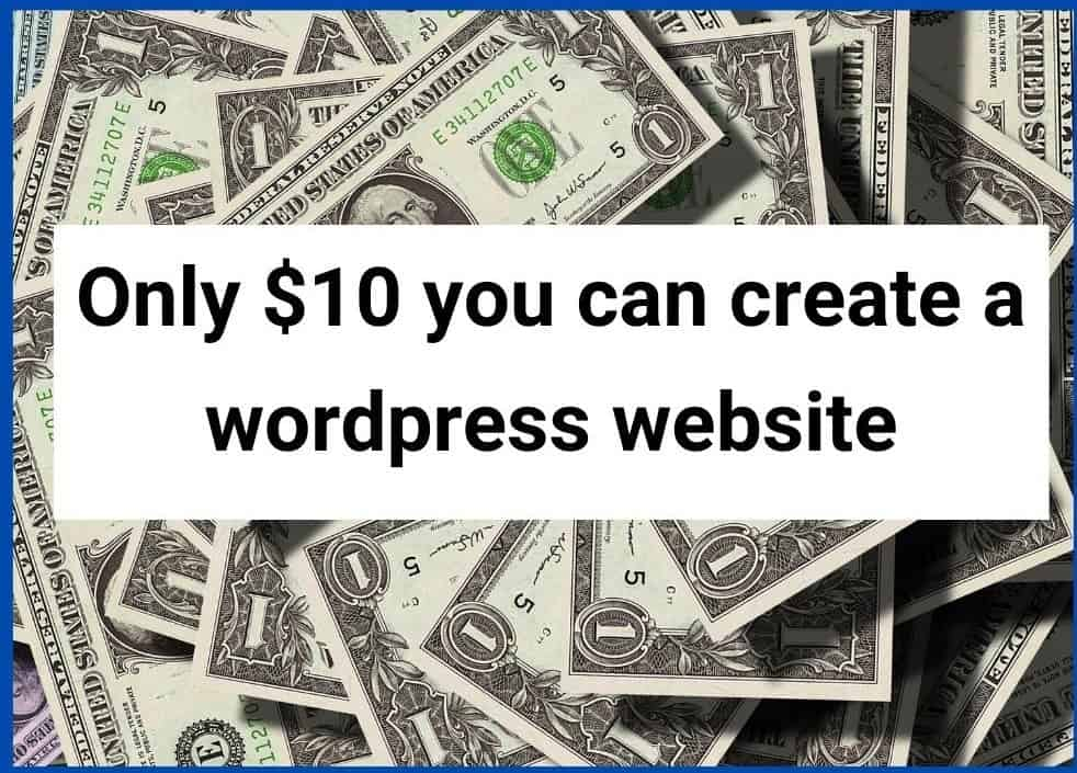 Cost to create a wordpress site