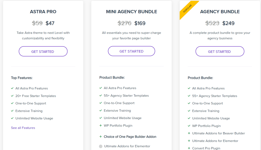 Blogging tool -pricing plan