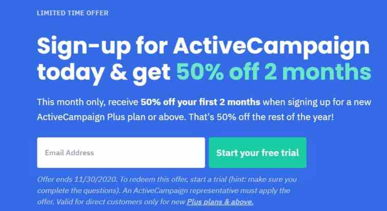 Active Campaign Discount prices