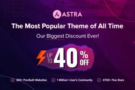 Astra Theme Black Friday Deals