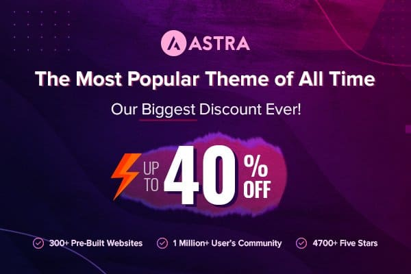 Astra Black Friday Discounts