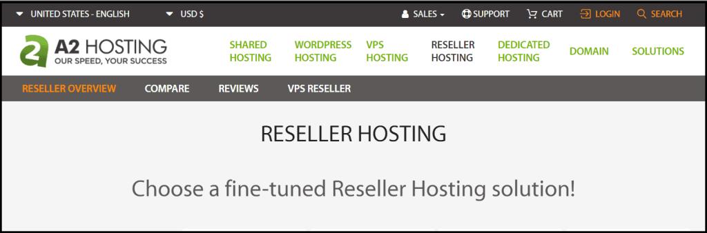 Resller type of web hosting