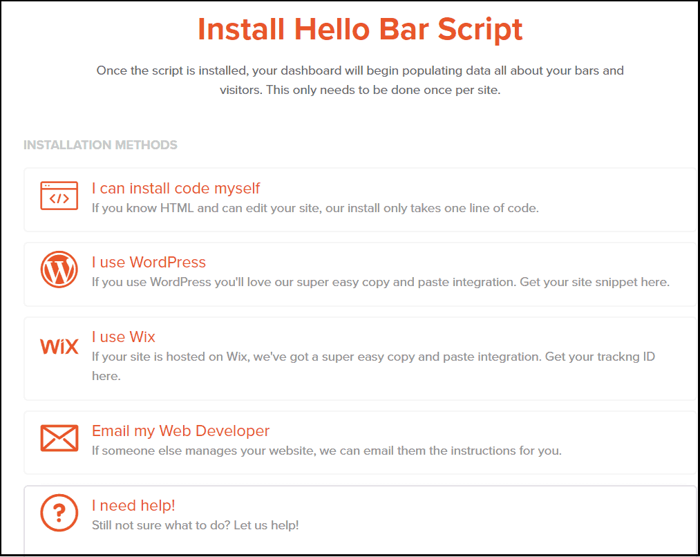 Script code for hello bar plugin