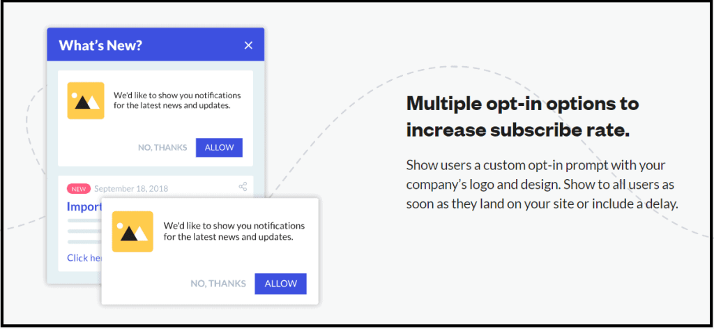 Opt-in for push subscribtion