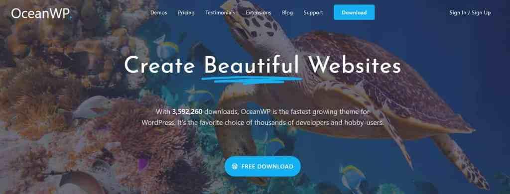 OceanWP - multipurpose Free Blog theme for WordPress