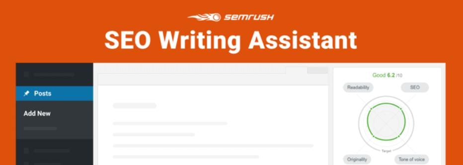 Semrush writing assistant tool for WordPress