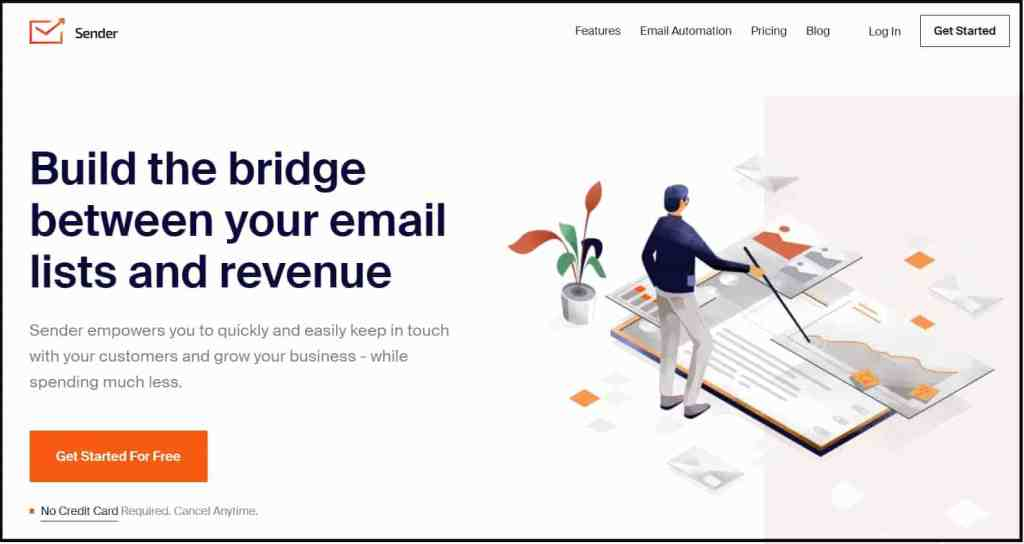Sender - Best free email markrting tool for small business