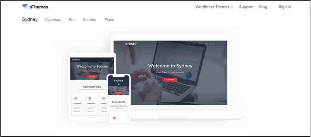 Sydney best blog WordPress theme