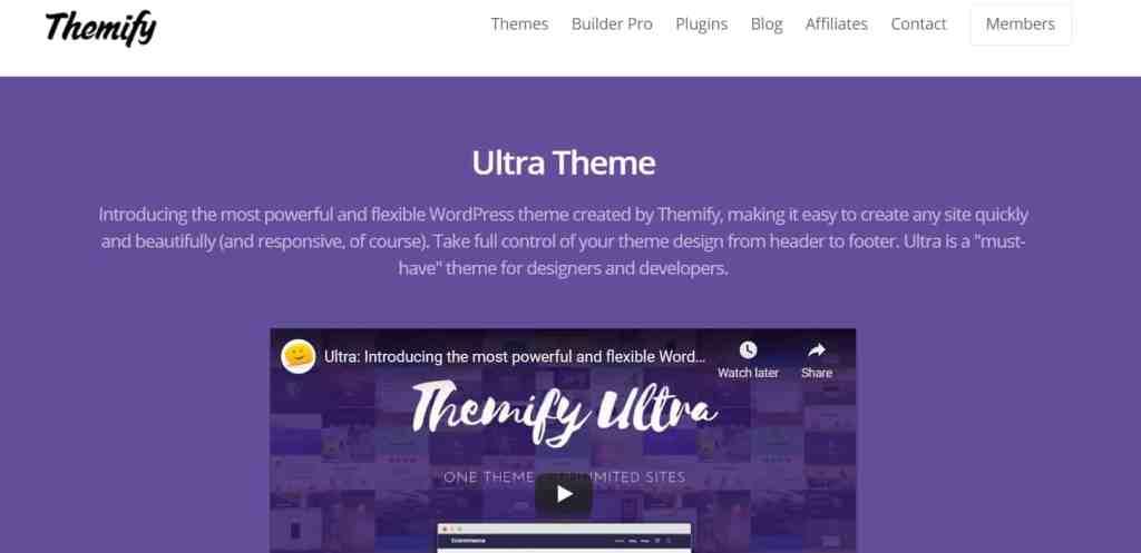 Ultra - SEO frienfly themes for WordPress