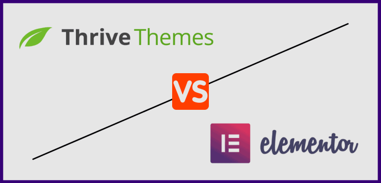 Thrive Themes Vs Elementor Comparison between