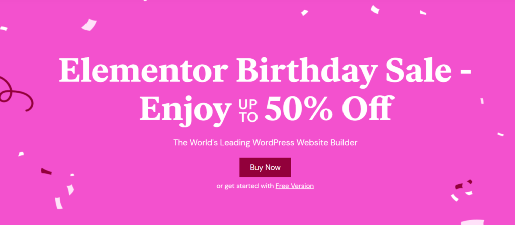 Elementor Coupon Code and sale discounts