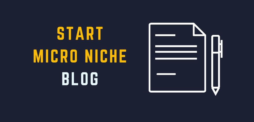 How to start a micro niche blog website