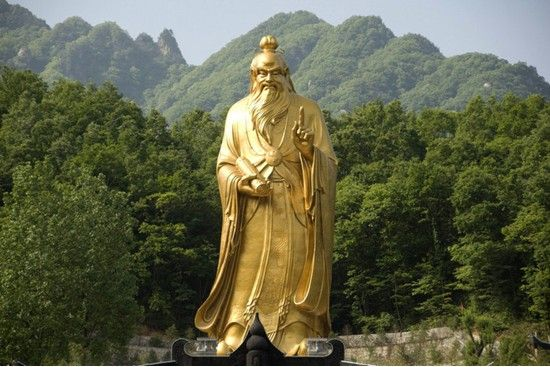 Statue of Laozi, Henan, China.