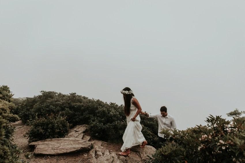 asheville elopement photographer max patch