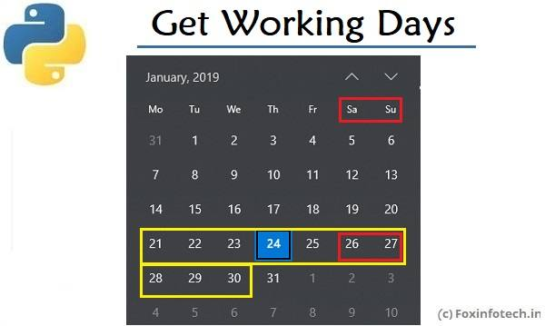 Get Dates of Working Days Between Two Dates in Python