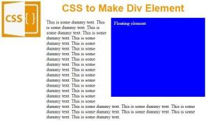 CSS Floating element.