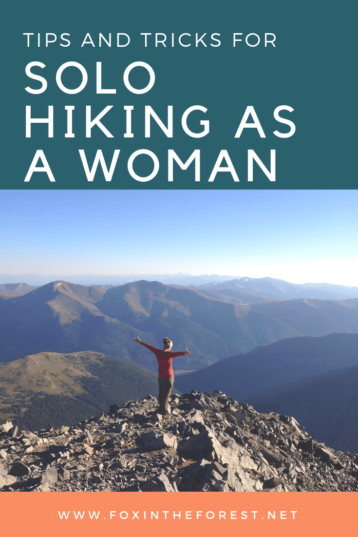 Step out of your comfort zone and go on a solo hike. These tips are designed to help women go on their first solo hike. Topics include how to relive anxiety, write a trip plan and how to deal with wildlife and other unwanted attention. #hiking #outdoorwomen #solohiking #outdoors