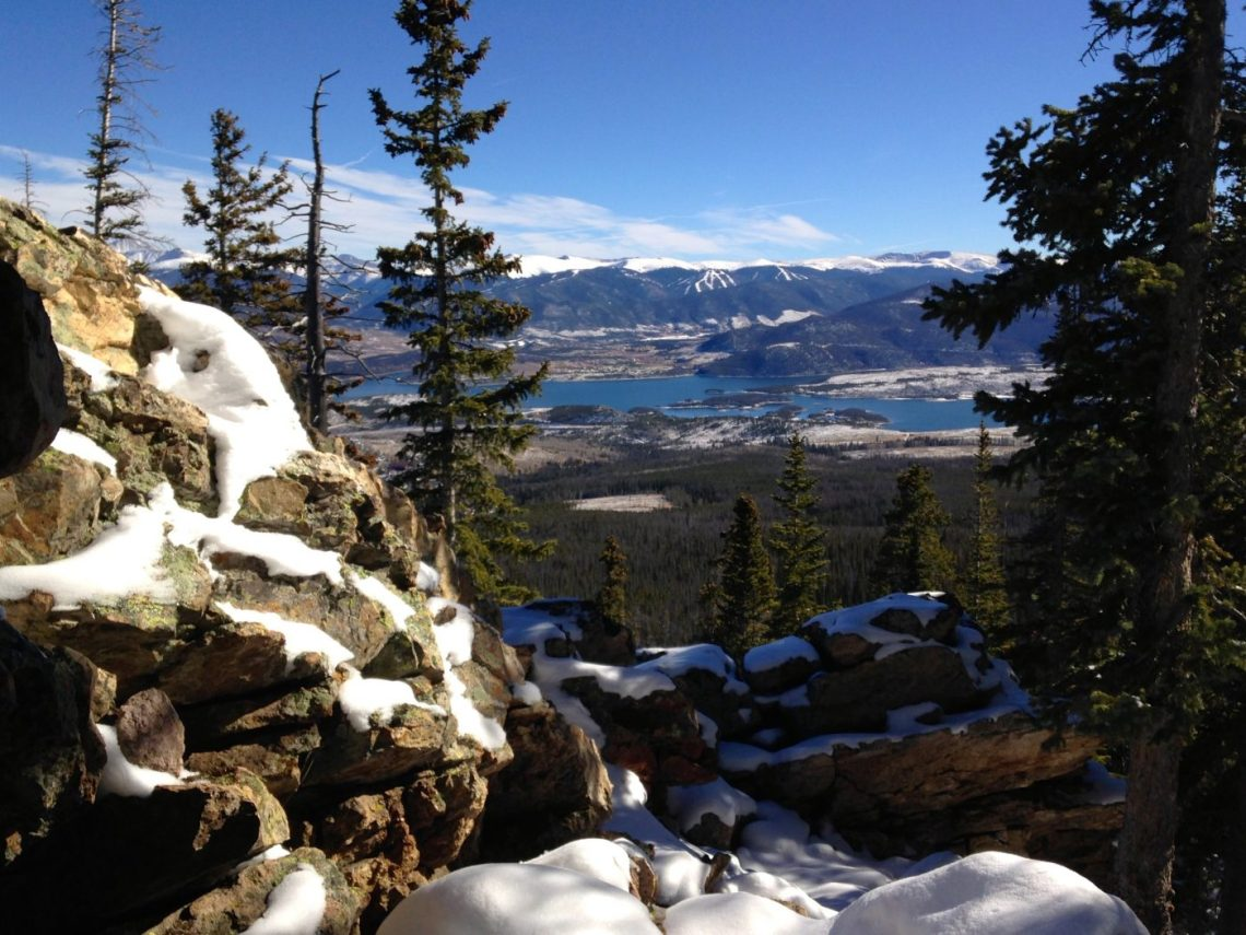 winter hiking and snowshoeing - Dillion