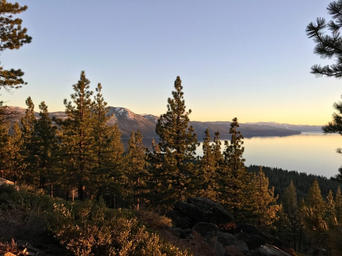 Hidden spots of Lake Tahoe - calm sunset