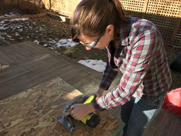 DIY Gear Closet - cutting