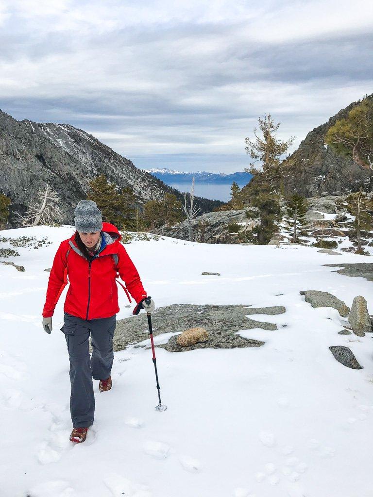 Hiking in winter