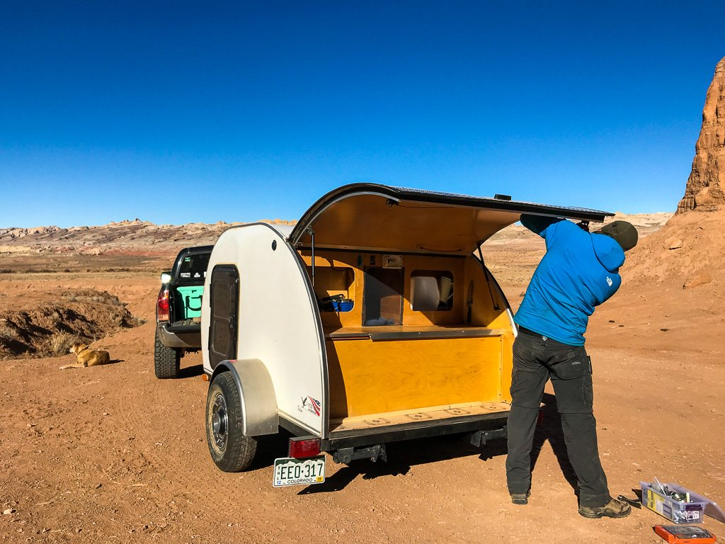 how to maintain a teardrop camper